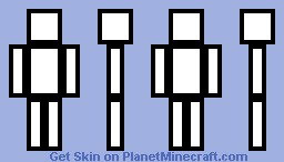 =(Pro)=(Template Skin)=(Black And White)= Minecraft Skin