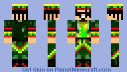 rastaman Minecraft Skin