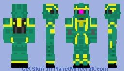 MS-06F Dozle Zabi 's Zaku ii Minecraft Skin