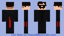 Dr Robotnik - MIB Suit Minecraft Skin