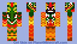 Flaming Dragon Slayer Skin Minecraft Skin