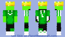 "~~ Dream - MCC 9 ""Lime Llamas"" Crowned Ver. ~~ (Requested) Minecraft Skin"