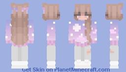 dreamy night (with sweatpants) (girl) Minecraft Skin