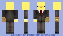 Business Duck with thanos gauntlet Minecraft Skin