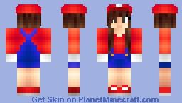 Mario Girl! (My -Current- Skin) [Luigi Girl in Desc.] Minecraft Skin