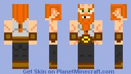 Bald miner dwarf Minecraft Skin