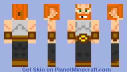 Bald miner dwarf: Short beard version Minecraft Skin