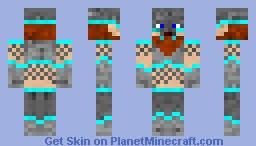 Dwarf in Diamond Trimmed Armour concept 2 Minecraft Skin