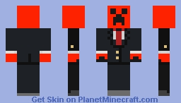 Party plastic creeper (colored red) credits to coolboy474 again, skin found on skindex Minecraft Skin