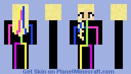 Neon Girl Minecraft Skin