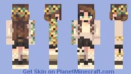 wow, sunflowers Minecraft Skin