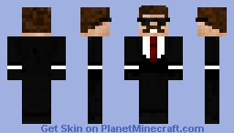My own Hitman Minecraft Skin