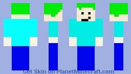 Green hair skin Minecraft Skin