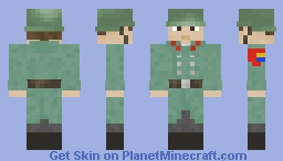 Nautican Independent Army - Soldier - Trench Coat Minecraft Skin