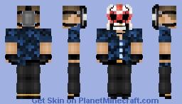 Sangres Payday 2 Minecraft Skin