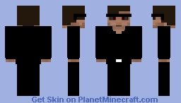Tony Rydinger with Black Suit in the Incredibles 3 (Evil superHero) man in Black Minecraft Skin