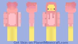 pato con chaqueta rosada Minecraft Skin