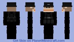 Black Monkey Bulletproof Vest Minecraft Skin