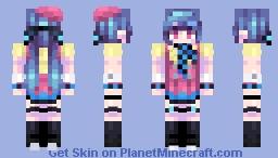 [Kari] Flower color☆Shy girl +Color Alt Minecraft Skin