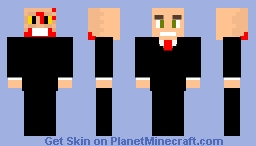 Two Faces Of Human Professor Zachary Phillip and Lord Zombie James (James Marvolo Riddle) (The Walking Dead) Minecraft Skin