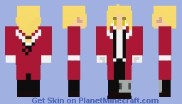FMA - Edward Elric (Briggs outfit, white outfit in describtion) Minecraft Skin