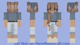 Bandanna Hair Bby Minecraft Skin