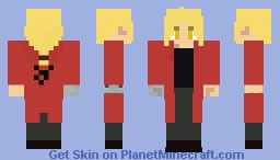 FMA - Edward Elric (End of Brotherhood, more outfits in describtion) Minecraft Skin