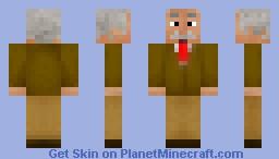Einstein (better in 3D) Minecraft Skin