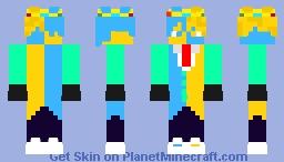 Electric Ranboo Minecraft Skin