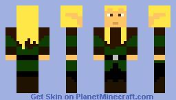 Legolas elf Minecraft Skin