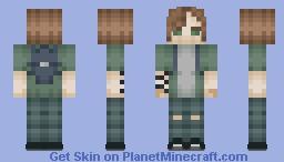 Ellie The Last Of Us 2 Minecraft Skin