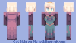 Frozen - Elsa but it's her coronation gown Minecraft Skin