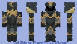Golden Dark elven Armor Minecraft Skin