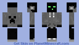 Enderman skater with creeper hoodie