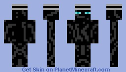 Enderman with blue eyes and hat. Minecraft Skin