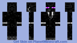 Enderman in suit Minecraft Skin