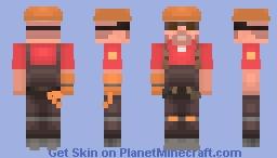 engineer - TF2 (red) Minecraft Skin