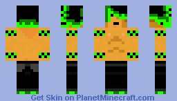 Epic, Green Showoff-ey (for me) Minecraft Skin