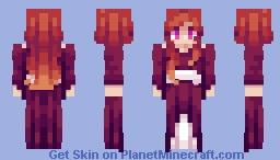 Red Medieval Dress [Request] Minecraft Skin