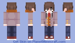 Ethan Winter's (Doki Doki Literature Club) [Final OC] Minecraft Skin