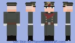 Wehrmacht Generalmajor ( 𝘔32 𝘰𝘷𝘦𝘳𝘤𝘰𝘢𝘵 ) 1943 Minecraft Skin