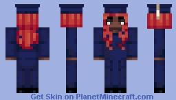 [UConn Minecraft Graduation] Female - Skin Tone 5, Red, SOB Minecraft Skin
