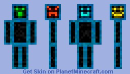 The many faces of me (3D features) Minecraft Skin