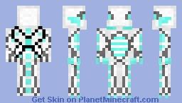 Cyber-Eyes White Dragon Minecraft Skin