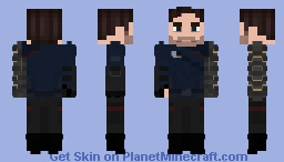 Falcon and the Winter Soldier: Bucky Minecraft Skin