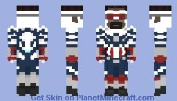 Falcon and the Winter Soldier: Captain America Minecraft Skin