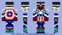 Captain America (Sam Wilson) Minecraft Skin