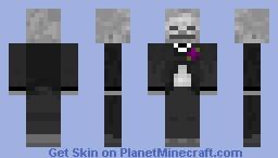 Fancy Skeleton w/ Purple Flower Minecraft Skin