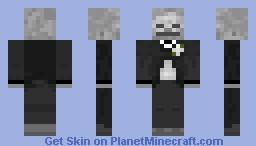 Fancy Skeleton w/ White Flower Minecraft Skin