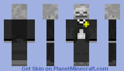 Fancy Skeleton w/ Yellow Flower Minecraft Skin